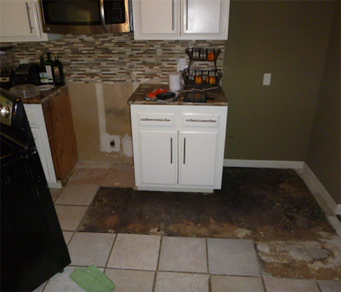 Water Damaged Moldy Kitchen Fully Mitigated and Restored  By SERVPRO Before