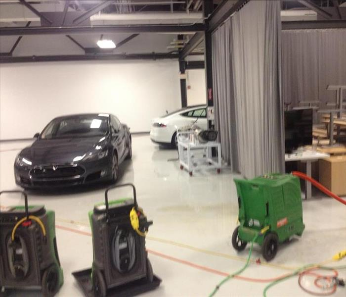 SERVPRO Santa Clara emergency professionals respond to the Tesla R&D facility in the Bay Area